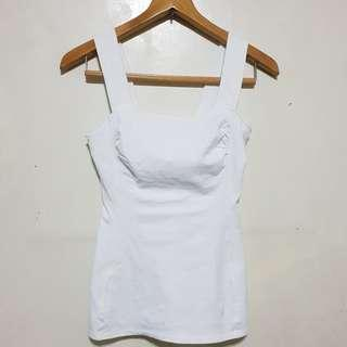 White Sleeveless Top / Shirt