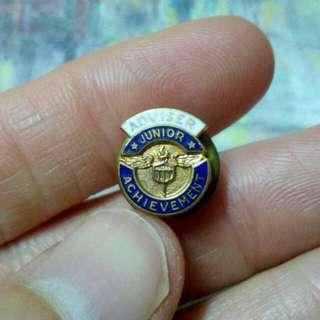 Junior Achievement Adviser Hat Lapel Pin Vintage