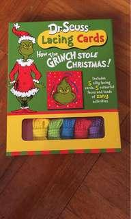 Dr Seuss The Grinch who Stole Christmas Lacing Cards
