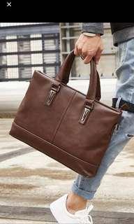 🚚 Inoko Mens brown briefcase laptop bag