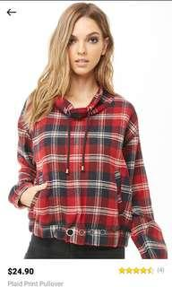 F21 checkered top
