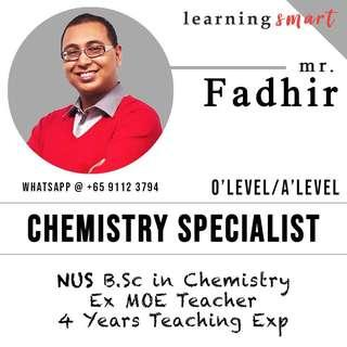 Chemistry tuition  Ex MOE teacher O level H2 A level , IB