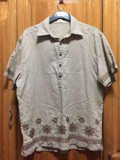 [PRELOVED] Brown Linen Top