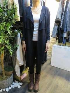 韓國製無領長身外套