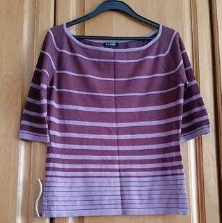 [NEW] Purple Striped Top