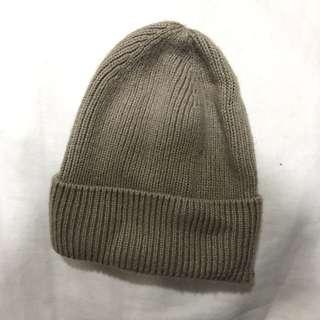 🚚 「冬天保暖必備」Zara 少用二手 針織毛帽(焦糖瑪奇朵)