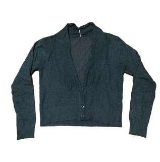 New:Gray longsleeves top