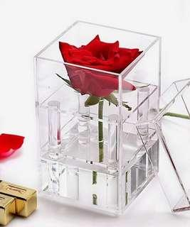 Great gift for Valentine's 1-Hole Acrylic Flower Box