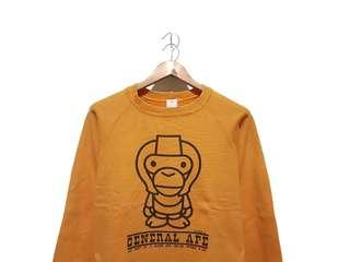Sweater sweatshirt crewneck general ape yellow