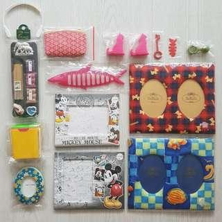 $10 for all - Coin Purse, Photo Frames, CD DVD stand, Storage holder, Fragrance Pack, Mobile Stand, Cable Holder, Umbrella Hook