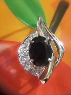 Ⓜ️❇️✨ 鉑金天然鑽石藍寶石吊咀 🤣 ✨❇️Ⓜ️