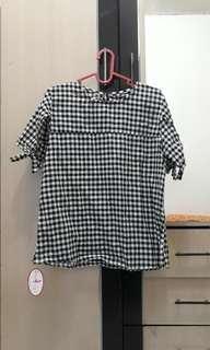blouse kotak kotak