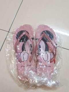 🆕️Jelly bunny mickey pink slipper