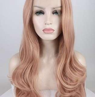 Rosegold lace front wig