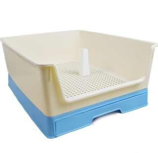 Rabbit litter box with pull out tray