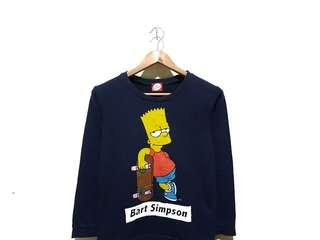 Sweater sweatshirt crewneck bart simpson navy
