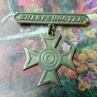 Sharpshooter Pin Badge Vintage