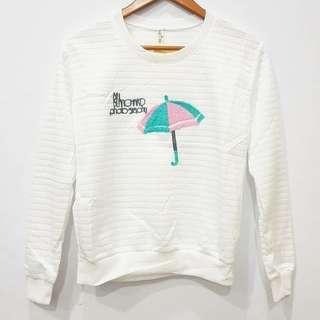 Import bangkok. Cutes Sweater top Motif ; umbrella