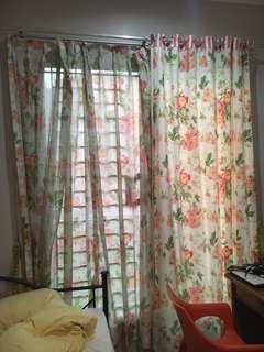 Koden Gordyn Curtain Bunga Pink Gorden