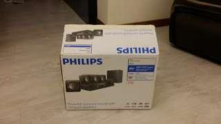BRAND NEW Philips DVD Home Theater System Speakers Soundbar