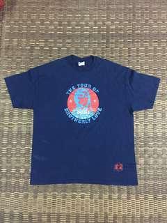Oasis black crowes band tour t-shirt