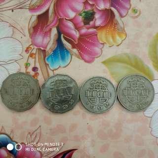 1992年澳門硬幣全部50