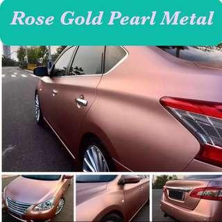 Rose gold pearl metal