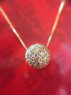 ❤️✨ 18K 金天然鑽石金波波頸鏈 ✨❤️