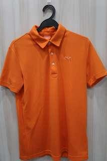 Puma Orange Dri-fit Polo Tee