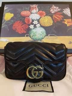 Gucci Marmont Matelassé Leather Super Mini Bag Handbag