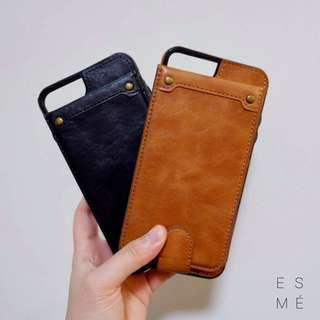 Leather iPhone case for iPhone 7+/8+