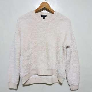 TOPSHOP : Cream White Fur Sweater