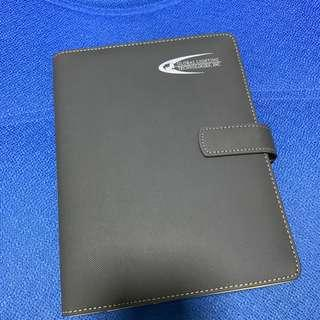 Work note book with soft cover