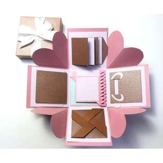 Pink with Bronze Explosion Gift Box