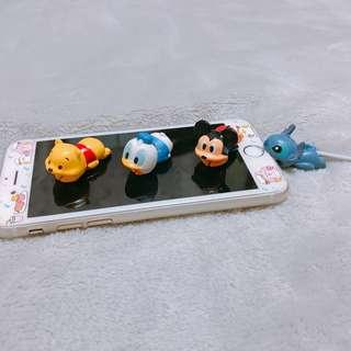 🚚 Instock!Mickey Pooh Donald Duck Stitch Cable Bite Protector