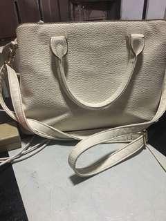 White 2 way bag