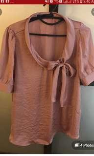 Zara top old rose pink