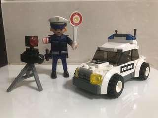 Lego 警察加警車 police and police car