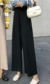 黑色長褲闊腳褲有腰帶