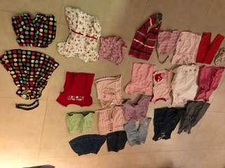 Bundle of toddler girls clothes
