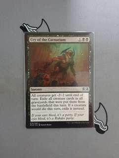 Magic The Gathering - Cry of the Carnarium Card