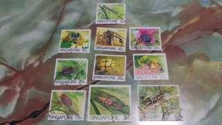 1985 Singapore Insects Stamps