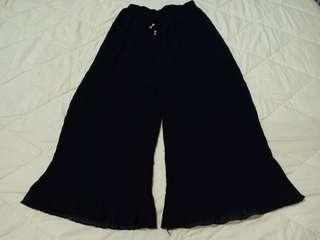 Celana bahan hitam