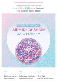 [PERIPERA] Airy Ink Cushion (Daldal Factory Collection) - 14g (SPF50+ PA+++)