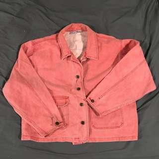 古著 可愛 粉色 外套