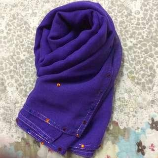 Bawal square cotton with diamonds in indigo