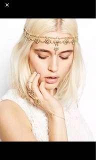 Instock Headchain head chain headwear hair hijab accessory beautiful pretty elegant cute