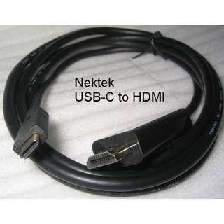 USB-C to HDMI Cable (Nekteck)