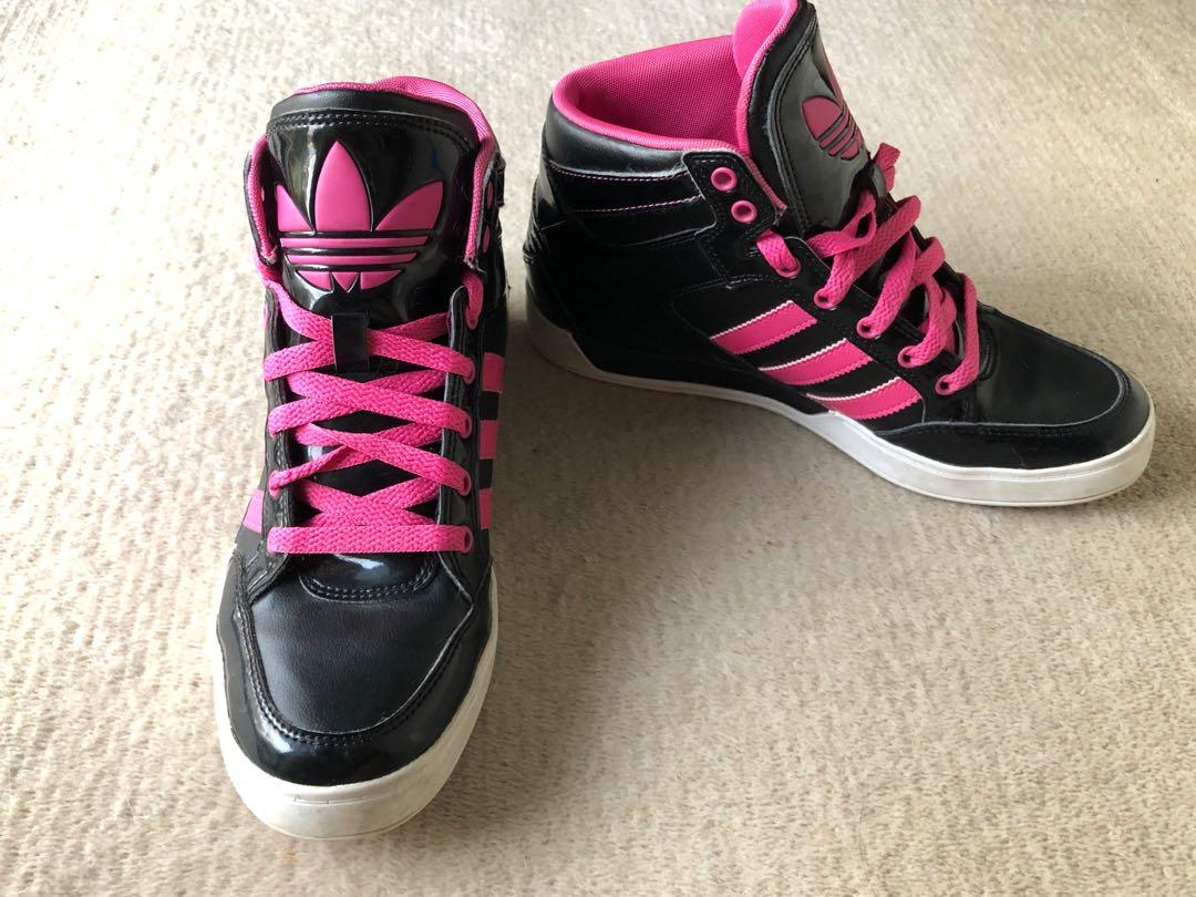 adidas high tops pink and black - 57