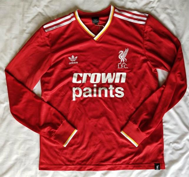purchase cheap e29f3 2def9 adidas Liverpool No. 7 Home Jersey 1986-1987 Season ...
